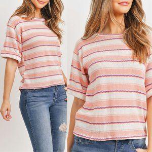 Peach Stripes Top {Ginger G}